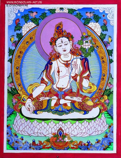 Weisse tara mongolian art Das Zentrum der Weisheit: LG 24 - das 3. Auge