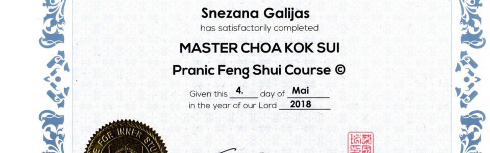 Pranaheilung-PH-FengShui-Zertifikat-Snezana